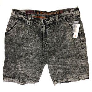ROCK REVIVAL Cotton acid wash mens shorts sz 44